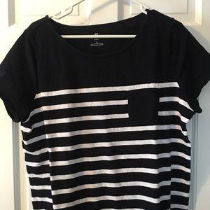 Talbots Navy Cotton T-shirt